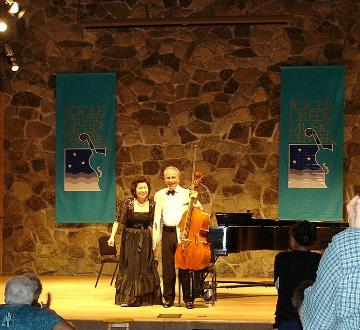 Concert with cellist Nathaniel Rosen, Tchaikovsky competition gold medal winner